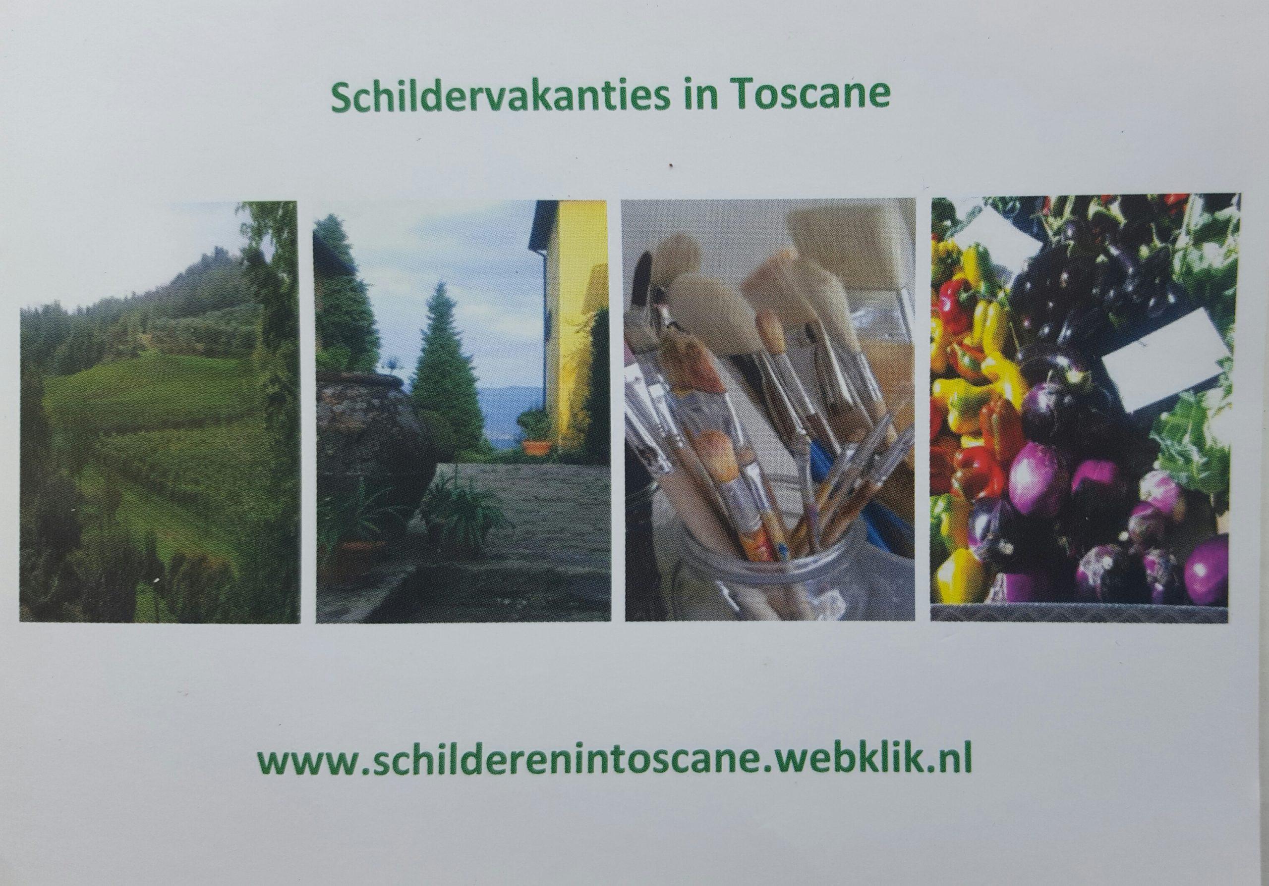 Schildervakantie in Toscane